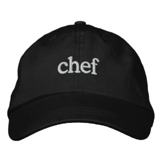 Chef Basic Embroidered Black Cap Template Embroidered Hat