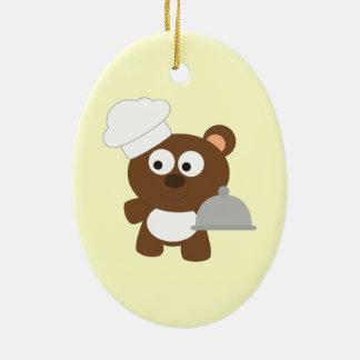 Chef Bear Ceramic Ornament
