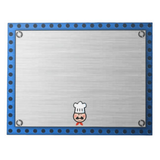 Chef; Brushed metal-look Scratch Pad