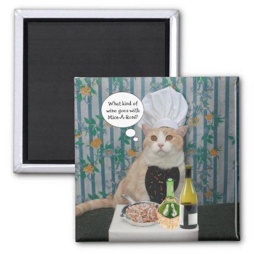 Chef Bubba Kitty 2 Inch Square Magnet