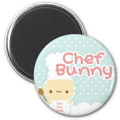 Chef Bunny Magnet