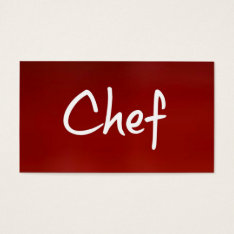 Chef Business Card at Zazzle