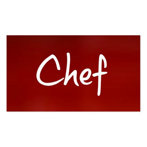 Chef Business Card