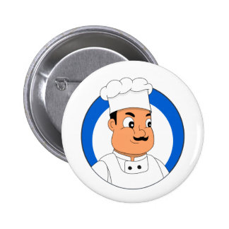 Chef cartoon button