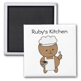 Chef Cat Kitty Customizable Magnets