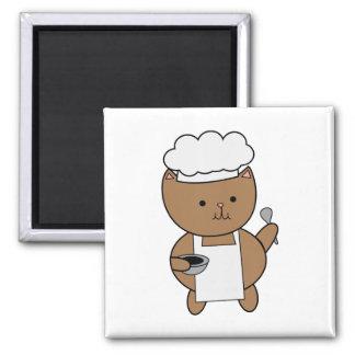 Chef Cat Kitty Fridge Magnets