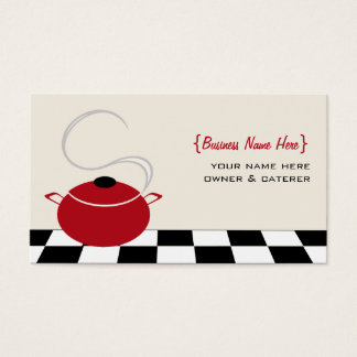 Chef / Caterer Business Card - Red Cooking Pot