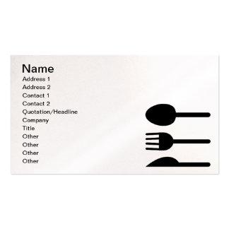 Chef Caterer Restaurateur Business Black Business Cards