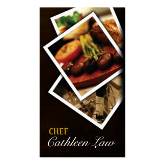 Chef, Catering, Food, Restaurant, Business Card