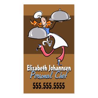 Chef.Catering.Meal personal Delivery.Service Tarjetas De Visita
