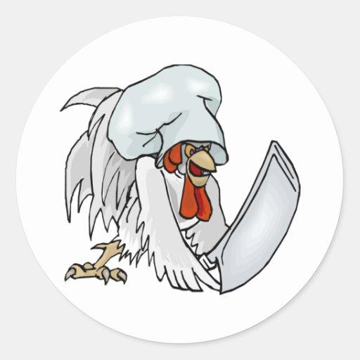 Chef Chicken Classic Round Sticker