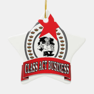 chef class act business ceramic ornament