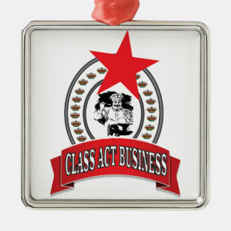 chef class act business metal ornament