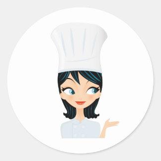 Chef Classic Round Sticker