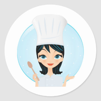 Chef Classic Round Sticker