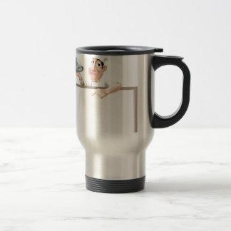 Chef cloche and menu coffee mug
