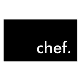 chef. (color customizable) Double-Sided standard business cards (Pack of 100)