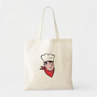 Chef Cook Baker Head Scarf Cartoon Tote Bag