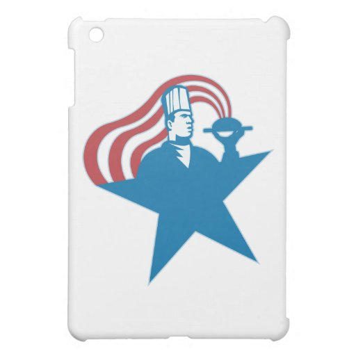 Chef Cook Baker Serving Hot Food Stars Stripes Cover For The iPad Mini