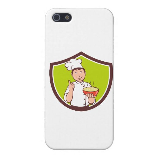 Chef Cook Bowl Pointing Crest Cartoon iPhone 5 Case