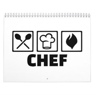 Chef cook hat equipment wall calendars