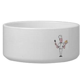 Chef Cook Roast Chicken Spatula Cartoon Bowl