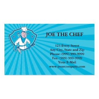 Chef Cook Star Shield Business Card