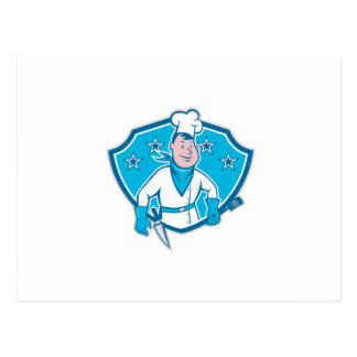 Chef Cook Star Shield Postcard