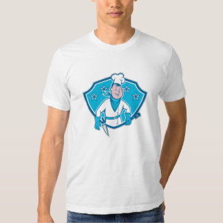 Chef Cook Star Shield T Shirt