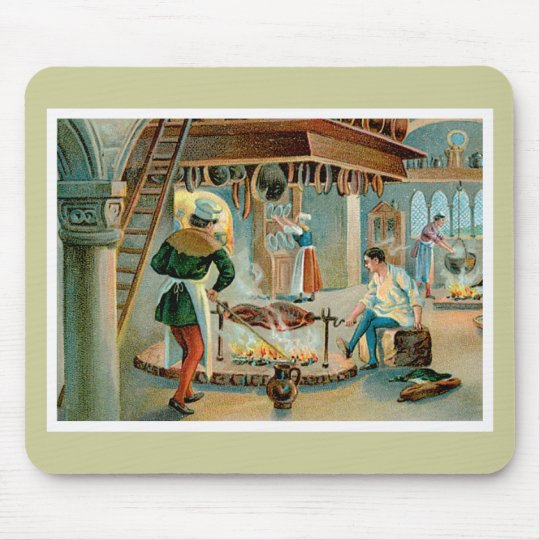 Chef Cook Vintage Food Ad Art Mouse Pad