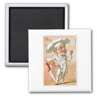 Chef Cook Vintage Food Ad Art Refrigerator Magnets