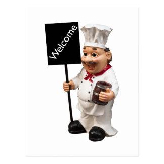 Chef cook - WELCOME menu card