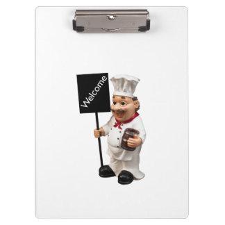 Chef cook - WELCOME menu card Clipboard