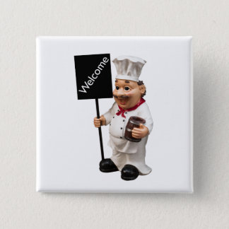 Chef cook - WELCOME menu card Pinback Button