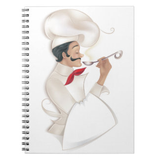 Chef Cookbook Recipe (place your text onto towel) Spiral Notebook