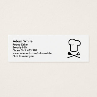 Chef cooking hat mini business card