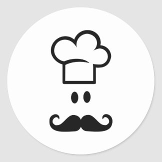 Chef cooking hat stickers