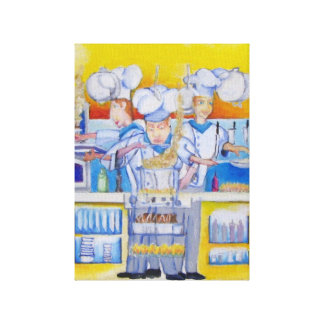 Chef Cooking in the Kitchen Canvas Print