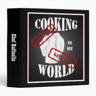 Chef Cooking is My World Recipe Binder