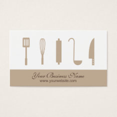 Chef Cooking Utensils, Catering Business Cards at Zazzle