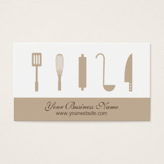 Chef Cooking Utensils, Catering Business Cards