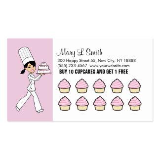 Chef Cupcake Rewards Card Card - Customizable Business Card