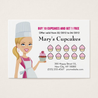 Chef Cupcake Rewards Chubby Card