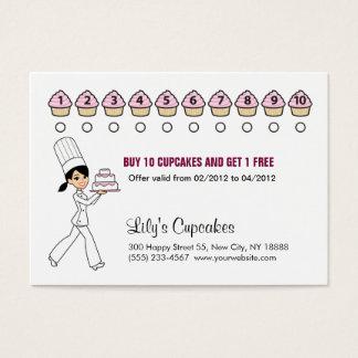 Chef Cupcake Rewards Chubby Card Card