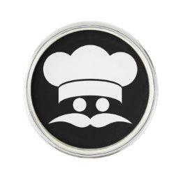 Chef custom color lapel pin