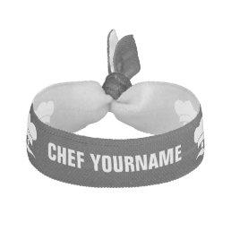 Chef custom color & text hair tie