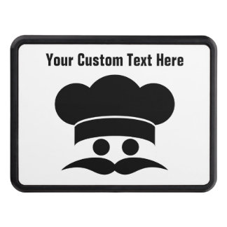 Chef custom color & text hitch cover