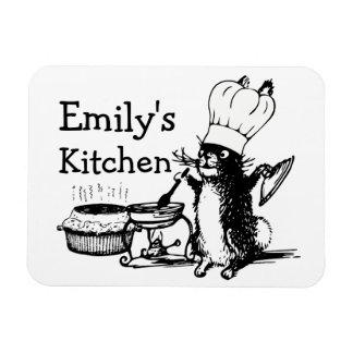 Chef Cute Bunny Rectangular Photo Magnet
