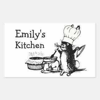 Chef Cute Bunny Rectangular Sticker