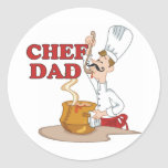 Chef Dad Father Gift Classic Round Sticker